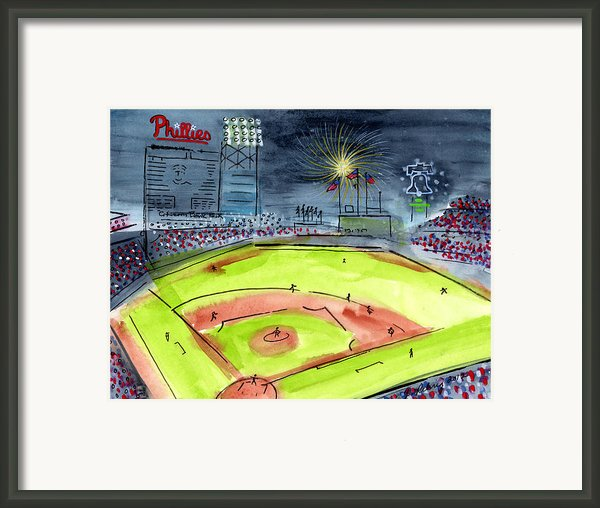Home Of The Philadelphia Phillies Framed Print By Jeanne Rehrig