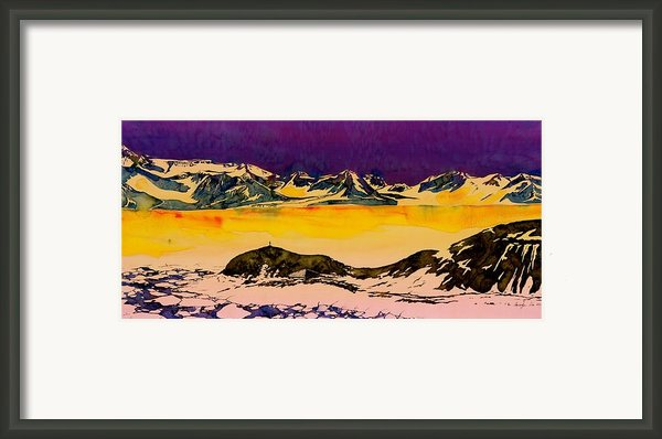 Hut Point Antarctica Framed Print By Carolyn Doe