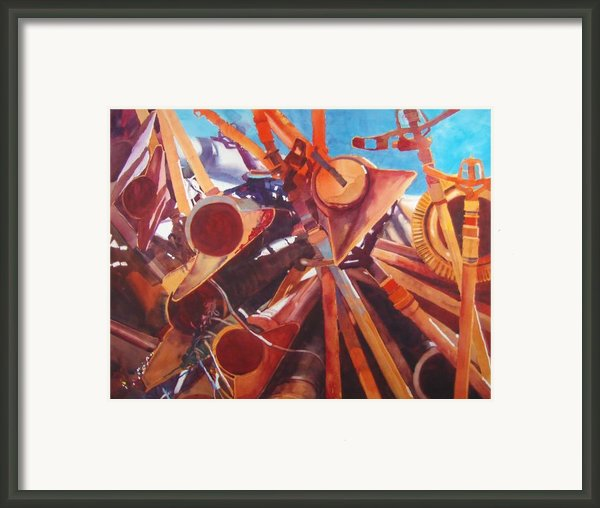 I Think They Went That-a-way Framed Print By Elizabeth Carr