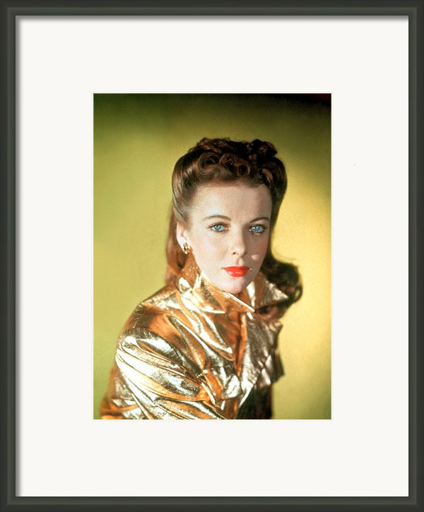 Ida Lupino Framed Print By Everett