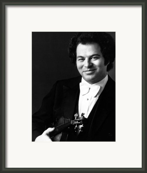 Itzhak Perlman, Ca. 1980s Framed Print By Everett