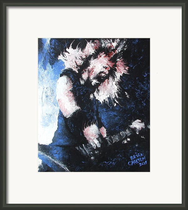 James Hetfield Framed Print By Brian Carlton