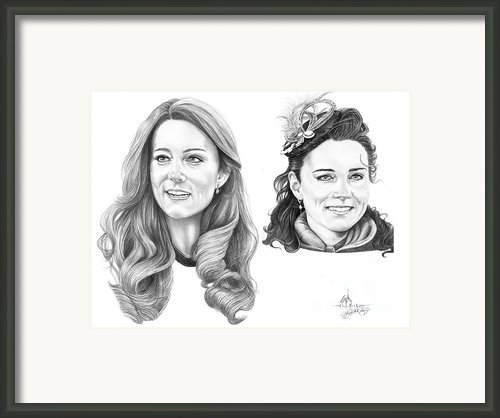Kate Middleton Framed Print By Murphy Elliott