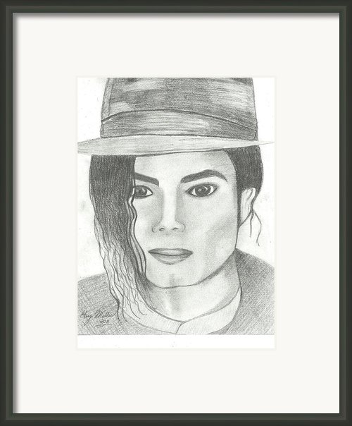 King Of Pop Framed Print By Gary Miller