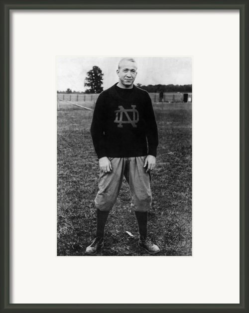 Knute Rockne, University Of Notre Dame Framed Print By Everett