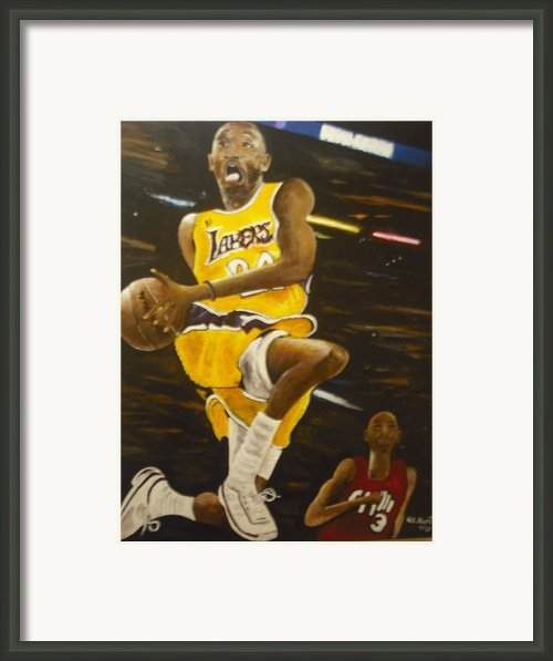 Kobe Framed Print By Anthony Hurt