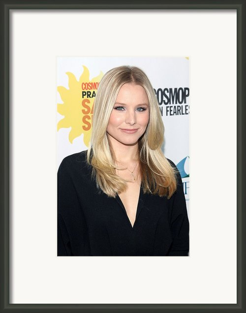 Kristen Bell At Arrivals For Cosmos Framed Print By Everett