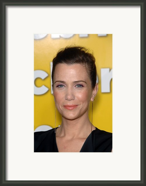 Kristen Wiig At Arrivals For Paul Framed Print By Everett