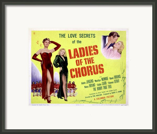 Ladies Of The Chorus, Adele Jergens Framed Print By Everett