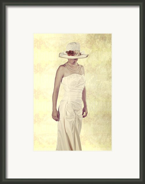 Lady In White Dress Framed Print By Joana Kruse