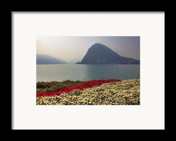 Lake Lugano - Monte Salvatore Framed Print By Joana Kruse
