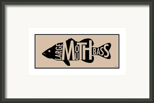 Largemouth Bass  Framed Print By Geoff Strehlow