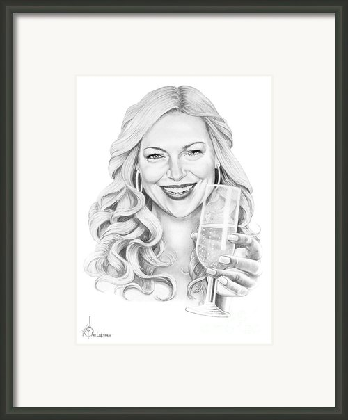 Laura Prepon Framed Print By Murphy Elliott