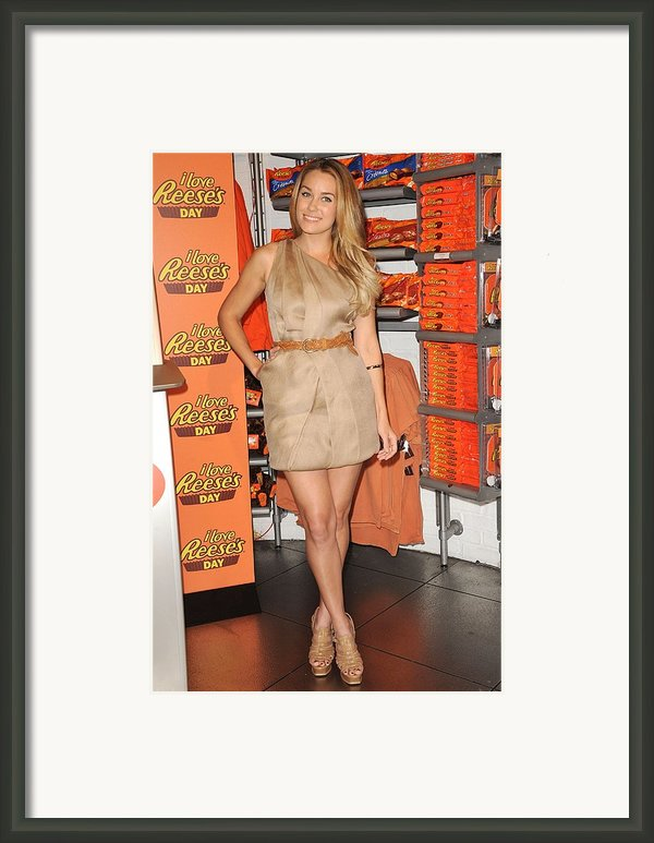 Lauren Conrad At A Public Appearance Framed Print By Everett