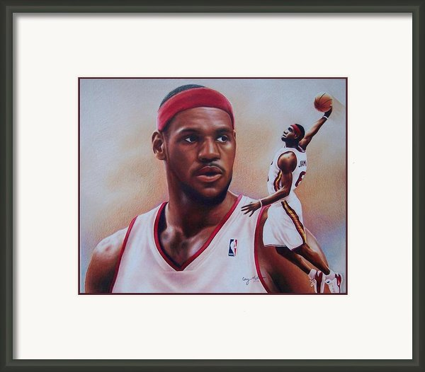 Lebron James Framed Print By Cory Mckee