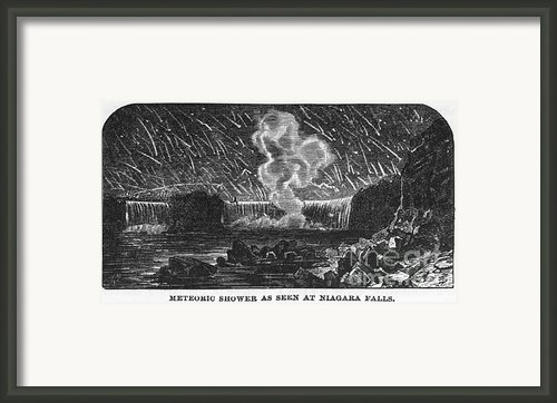 Leonid Meteor Shower, 1833 Framed Print By Granger