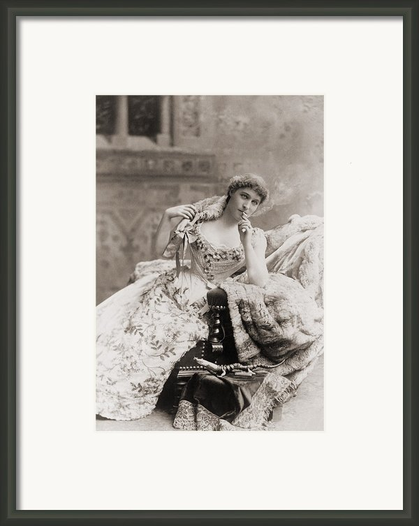 Lillie Langtry 1853-1929, English Framed Print By Everett