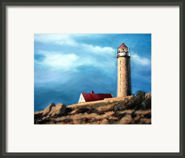 Lista Fyr Lighthouse Framed Print By Janet King