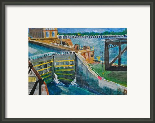 Lock And Dam 19 Framed Print By Jame Hayes