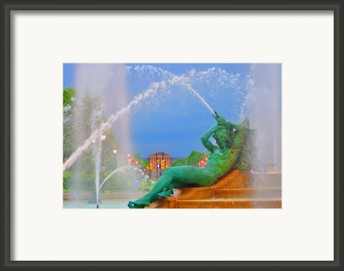 Logan Circle Fountain 1 Framed Print By Bill Cannon