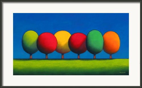 Lollipop Trees Framed Print By Christopher Jackson