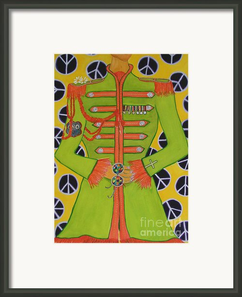 Lonely Hearts Club Member John Framed Print By Barbara Nolan