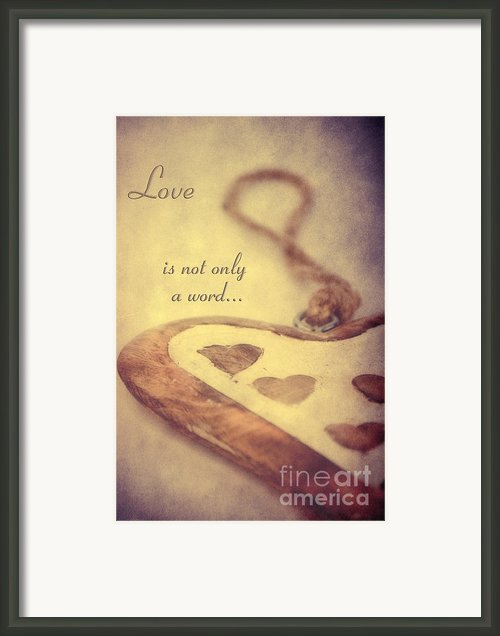 Love... Framed Print By Angela Doelling Ad Design Photo And Photoart