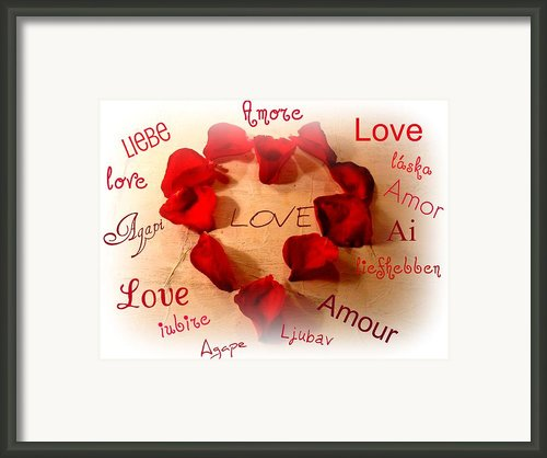 Love In Any Language Framed Print By Kathy Bucari