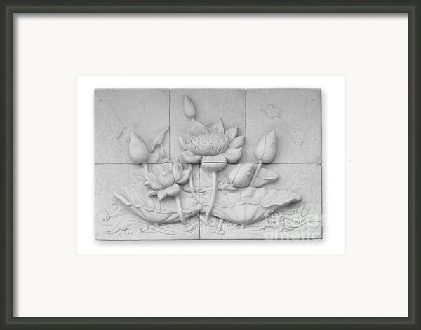 Low Relief Cement Thai Style  Framed Print By Phalakon Jaisangat