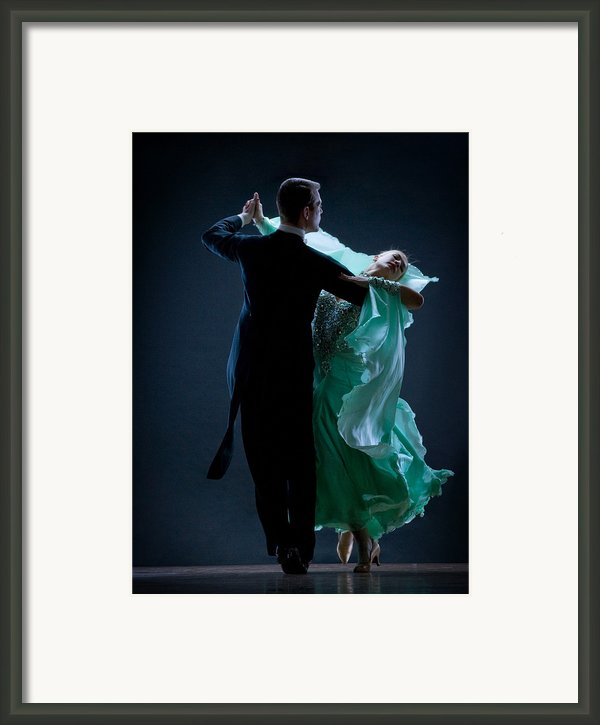 Man And Woman Dancing Framed Print By David Sacks