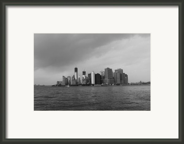 Manhattan Framed Print By Nina Mirhabibi