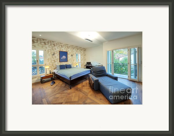 Masculine Decorated Bedroom Framed Print By Noam Armonn