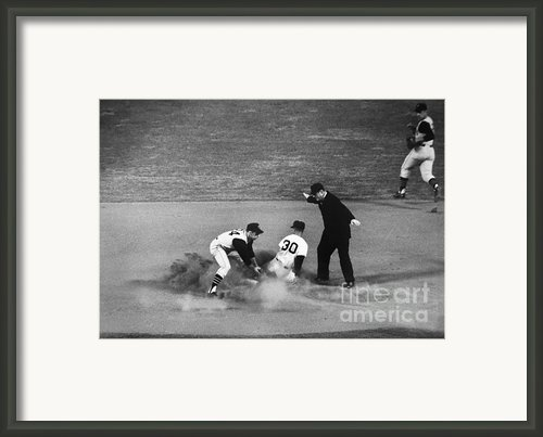 Maury Wills (1932- ) Framed Print By Granger