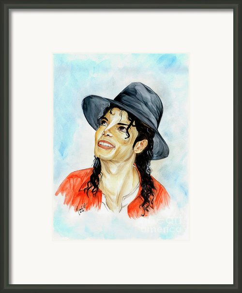 Michael Jackson - Keep The Faith Framed Print By Nicole Wang