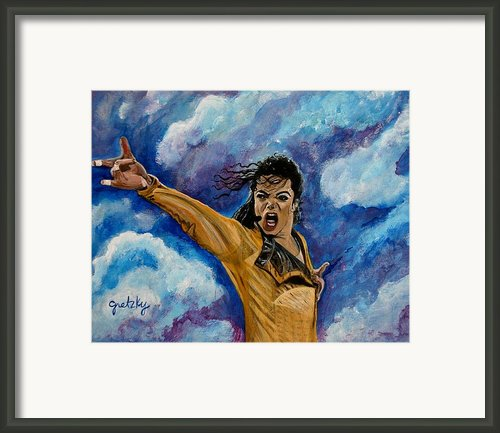 Michael Jackson Framed Print By Paintings By Gretzky