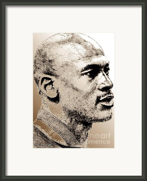 Michael Jordan In 1990 Framed Print By J Mccombie