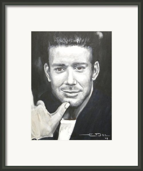 Mickey Rourke Framed Print By Eric Dee