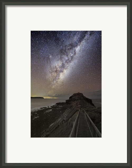 Milky Way Over Cape Schanck, Australia Framed Print By Alex Cherney, Terrastro.com