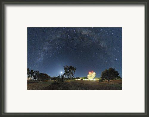 Milky Way Over Parkes Observatory Framed Print By Alex Cherney, Terrastro.com
