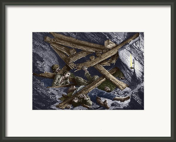 Mining Disaster, 19th Century Framed Print By Sheila Terry