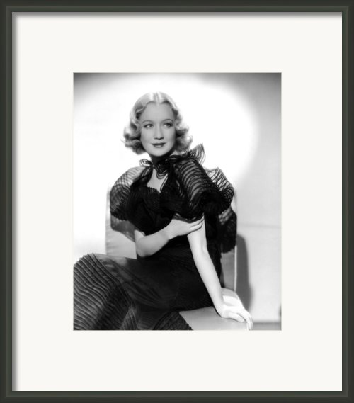 Miriam Hopkins, Ca. 1930s Framed Print By Everett