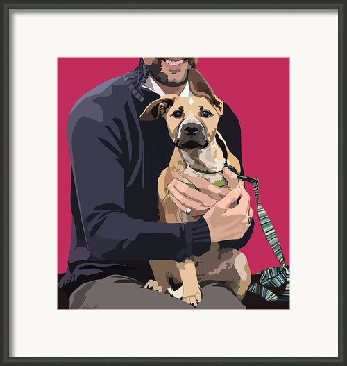 Mixed-breed Puppy Framed Print By Kris Hackleman