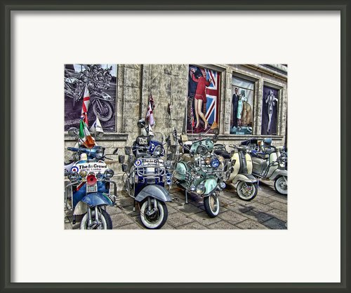 Mod Scooters And 60s Fashion Framed Print By Jasna Buncic