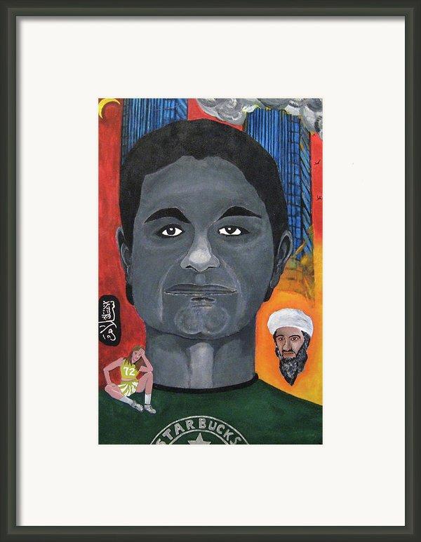 Mohamed Atta Framed Print By Darren Stein
