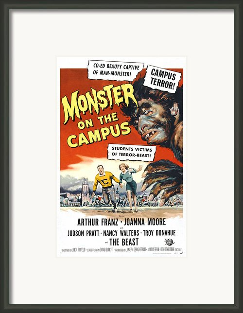 Monster On The Campus, Arthur Franz Framed Print By Everett
