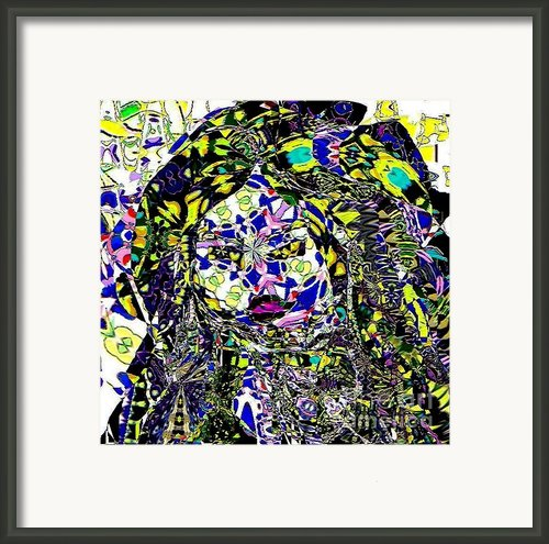 Mosaic Girl Framed Print By Navo Art