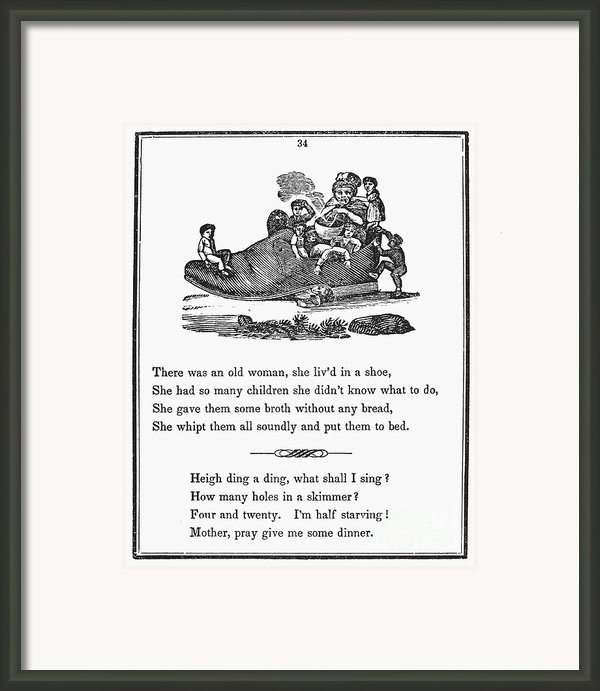 Mother Goose, 1833 Framed Print By Granger
