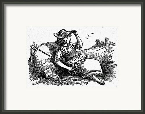 Mother Goose: Bo-peep Framed Print By Granger