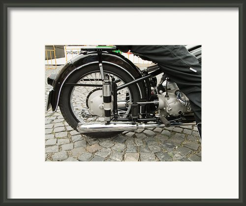 Motorcycle Framed Print By Odon Czintos