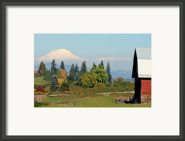 Mt. Adams In The Country Framed Print By Athena Mckinzie